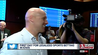 First Day for Legalized Sports Betting in Iowa