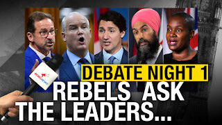SUPERCUT: Rebel News poses questions to leaders at French-language debate