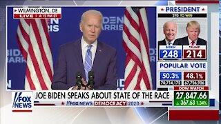 Joe Biden speaks about state of presidential race