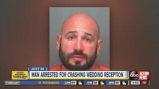 Man arrested for crashing wedding during bride, groom's first dance