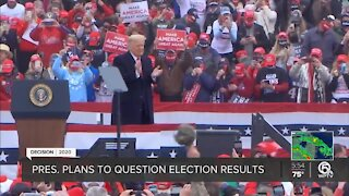 Trump continues to question election results