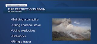 Fire restrictions start May 24 in Southern Nevada