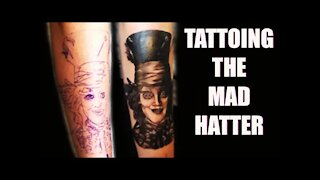 ✅Tattooing the MAD HATTER 👀 (REAL TIME) while telling you everything I'm doing!! 👀