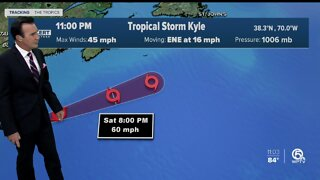 Tropical Storm Kyle moving away from the U.S.