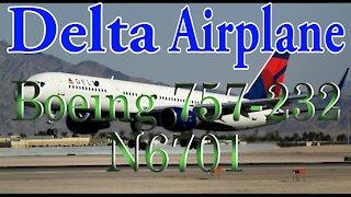Delta Airlines Plane N6701 Boeing 757-232