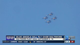 Blue Angels will fly over Baltimore during Fleet Week