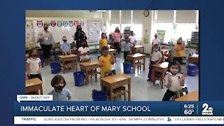 Immaculate Heart of Mary School in Towson says Good Morning Maryland!