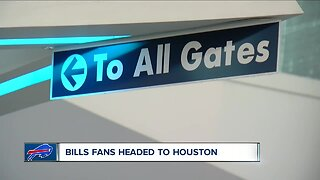 Bills fans headed to Houston ahead of Saturday's playoff game