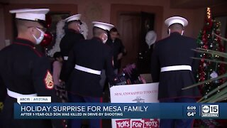 Holiday surprise for Mesa family
