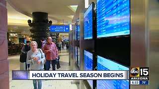 Holiday travel season begins this weekend
