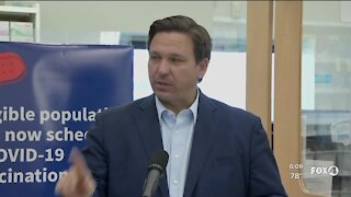 DeSantis says vaccines open up to all by April