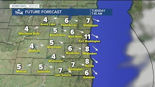Light snow possible for Monday