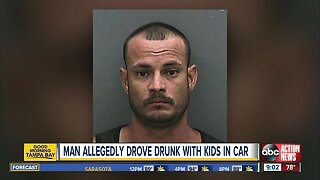 Man arrested for driving drunk with kids in his car on I-75