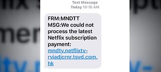 Watch out for Netflix scam