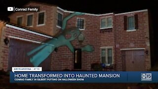 Home transformed into haunted mansion