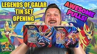 Legends of Galar Tin Set | Pokemon Cards Opening