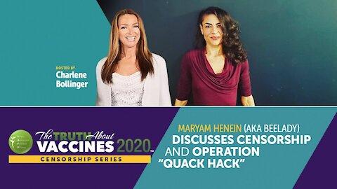"""Maryam Henein (aka BeeLady) Discusses Censorship and Operation """"Quack Hack"""""""