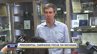 Presidential campaigns focus on Michigan