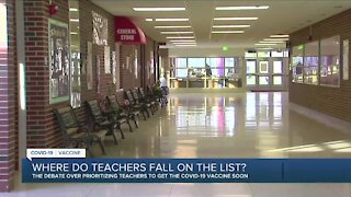School leaders push for teachers to be among first to receive vaccine
