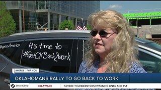Oklahomans Rally To Go Back To Work