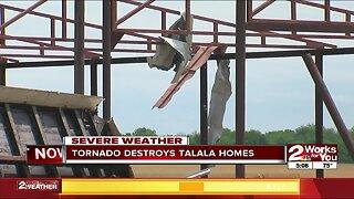 Tornado tears through Talala homes
