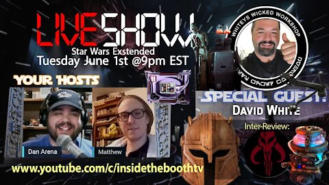 LIVE SHOW! #ManFlix Month. Star Wars Extended! Special Guest Whiteys wicked Workshop!