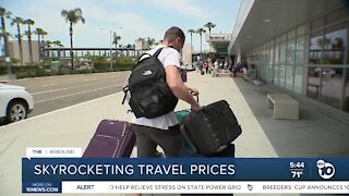 Travelers hit with sticker shock as prices skyrocket