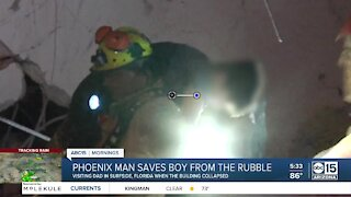 Phoenix man helps rescue child trapped in Florida condo collapse