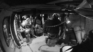 B-roll: Tucson Air and Marine Operations aircrew rescues stranded, medically distressed hiker.