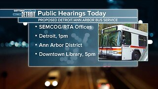 Public hearings today for proposed Detroit/Ann Arbor bus service