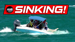 Sinking Boat at Haulover Inlet, Overloaded Boat