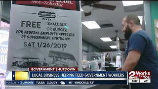 Local business helping feed government workers
