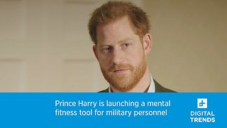 Prince Harry is launching a mental fitness tool for military personnel