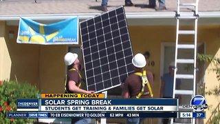 Solar Spring Break gives students training