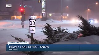 Heavy snow continues Tuesday morning