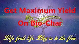 Get Maximum Yield on Bio-Char