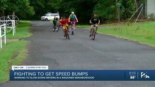 Parents fight for speed bumps in Wagoner neighborhood