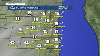 Windy Tuesday in store, showers possible