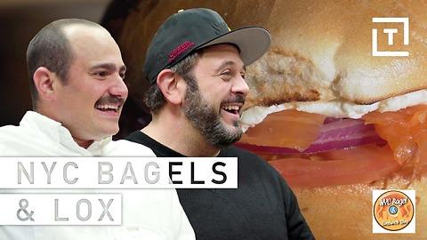 Adam Richman Man Vs Food Reviews NYC Bagel and Sandwich Shop