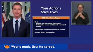 Gov. Newsom California update on COVID-19 and wildfires