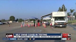 Bakersfield college holds covid-19 self swab testing