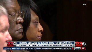 Mistrial declared in Bowers trial for second time