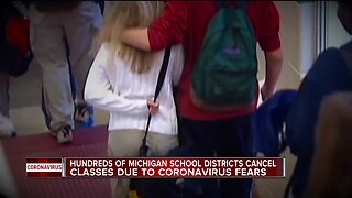 Hundreds of Michigan school district cancel classes due to coronavirus fears