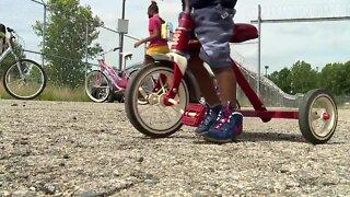 Oakland County PAL bike giveaway