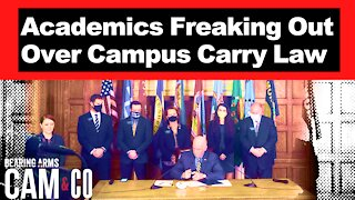 Anti-Gun Academics Freaking Out Over New Campus Carry Law