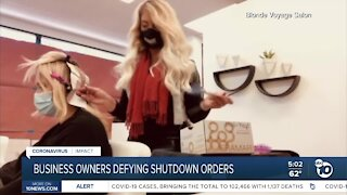Point Loma salon stays open, defying shutdown order