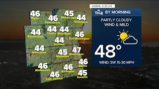 Tuesday remains windy with highs in the 60s