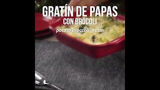 Potato Gratin with Broccoli