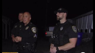 Sebastian police officers rescue man from burning home
