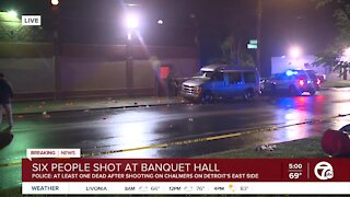 6 shot & 1 killed at banquet hall on Detroit's west side